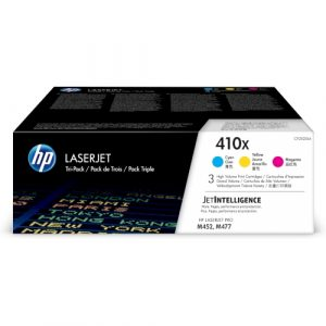 HP # 410X 3-pack High Yield Cyan/Magenta/Yellow Original LaserJet Toner Cartridges - M452dn