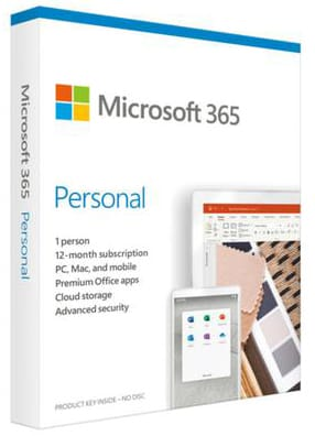 Microsoft 365 Personal (Medialess. 1 Yr Subscription)